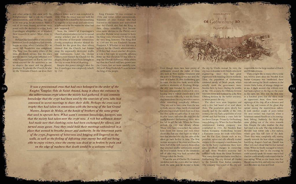 Double page intérieure en anglais du livre LexOccultum Lex Libris, traduction par Pierre Sagory