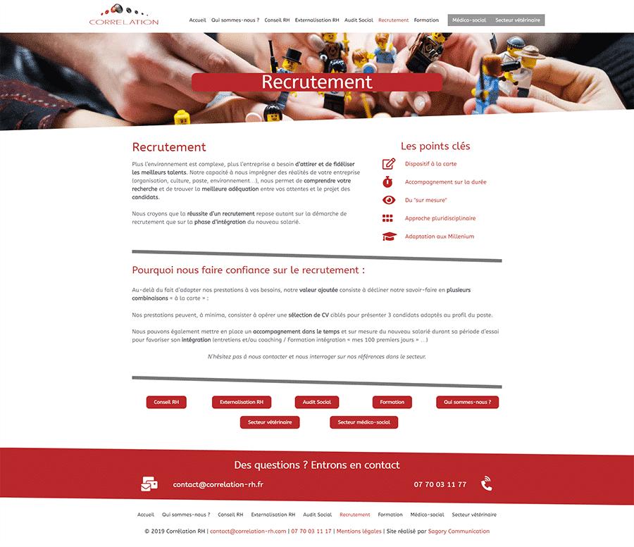 Création dun site Internet pour ActinG RH - Proxadis