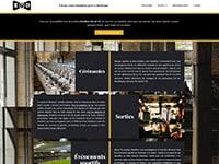 Capture d'écran d'un site de VTC, création de site Internet et webdesign