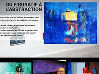 Capture d'écran d'un site de peintre, creation de site Internet d'artiste, portfolio