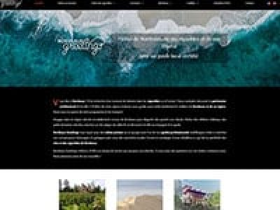 Capture d'écran d'un site de tourisme vitico-vinicole, création de site web et webdesign