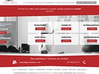 Capture d'écran d'un site de conseiller RH, création de site Internet, webdesign