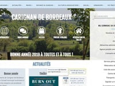 Capture d'écran d'un site internet de mairie. création de site web, site municipal, webdesign
